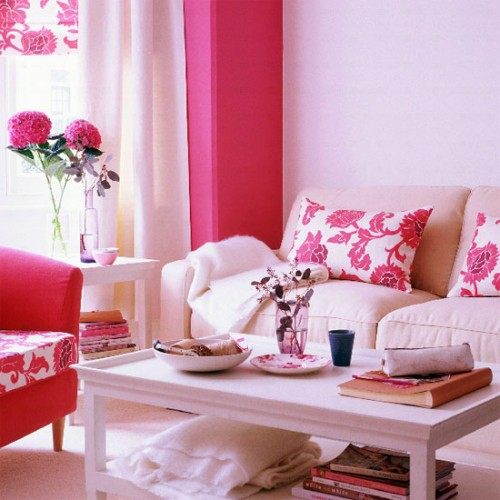 Spring -summer -inspiration -floral -white -pink -modern -contemporary -living -room -decor -idea -colorful -combination [1]